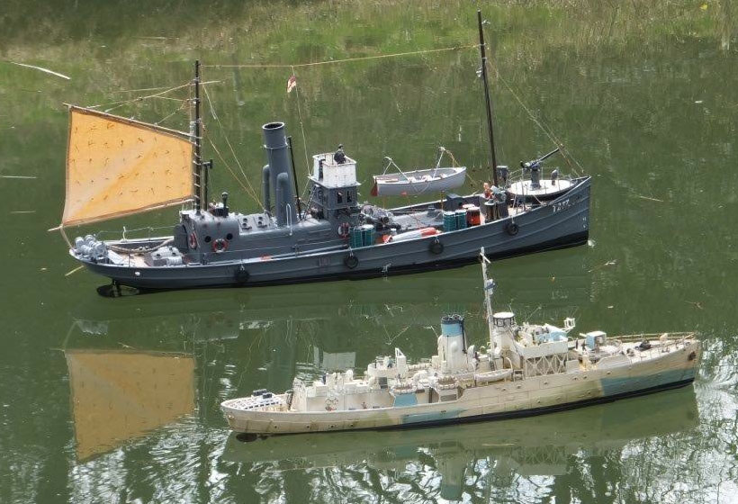 Corvette & armed trawler