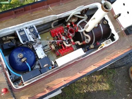 Mike l's steam tug engineroom